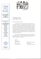 Letter from Christ Child House