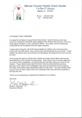 Letter from Mercer County Family Chrisis Center
