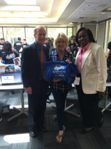 Ritchie Geisel, President/CEO of Bienvenidos, Janeen Holmes, President/CEO My Stuff Bags Foundation andJackie Broxton, Director of Planned Giving and Major Gifts-Hillsides